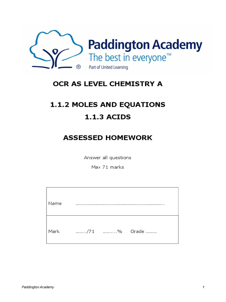 acids bases and buffers assessed homework