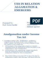 Tax Issues in Demarger & Amalgamation