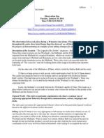 Final Observation Paper After Prof's. Feedback