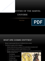 Cosmic Entities of the Marvel Universe