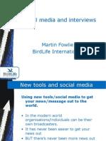 Social Media and Interviews