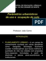 Parametros Urbanisticos de Ocupacao e Uso Do Solo