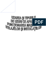 Uzarea si tipuri de uzura ce apar in functionarea masinilor utilajelor si instalatiilor