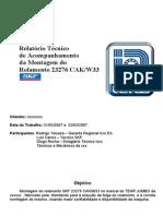 Acompanhamento de Montagem Do Rol 23276( ICRO -SKF)