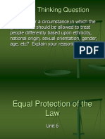unit 6 - equal protection of the law