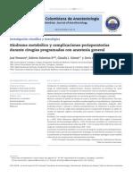 Sdmetabolico y Complicaciones Perioperatorias