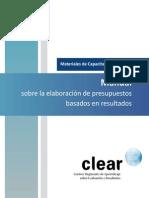 Manual sobre la elaboración de presupuestos basados en resultados_CLEAR