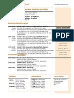 Curriculum Vitae Modelo4a Naranja