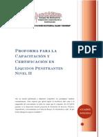 Propuesta Curso Penetrantes Nivel II