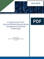 {Aa4b06aa-e9fb-463a-8443-Acad04e0bbd6} White Paper Single Source of Truth 012714