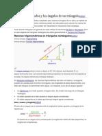 Cálculo de los lados y los ángulos de un triángulo