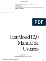 TextAloud Manual in Spanish