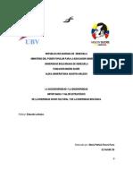 Trabajo Tema I. Importancia y Valor Estratégico de la biodiversidad 20-03-2014