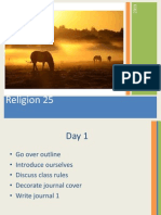 religion 25 first day