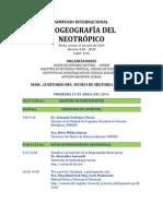 Simposio Biogeografia 2014