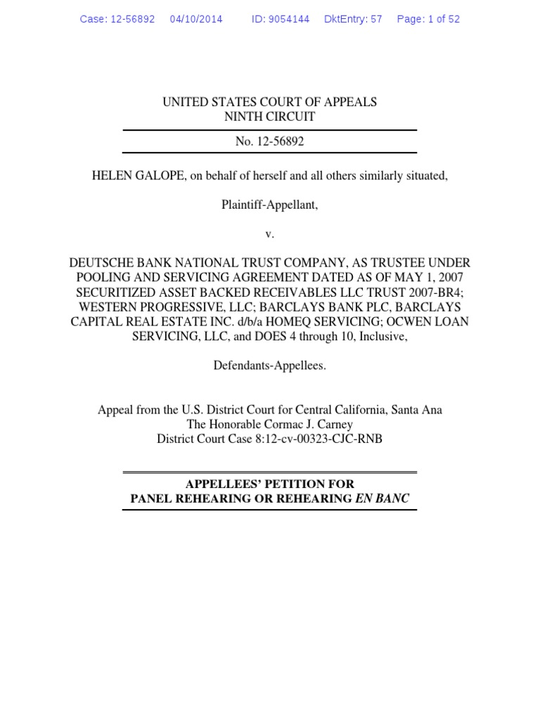 Appellees petition for rehearing in the helen galope matter ninth appellees petition for rehearing in the helen galope matter ninth circuit standing law barclays platinumwayz
