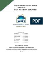 Laporan Penetapan Natrium Benzoat