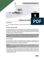 Tema 08 - Consultas a Múltiples Tablas