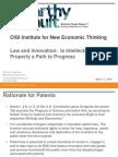 Sookman CIGI Intellectual Property a Path to Progress