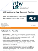 Sookman CIGI Intellectual Property a Path to Progress