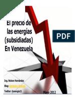 El Precio de las energías en Venezuela 2