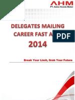 Delegates Mailing Career Fast AHM 2014