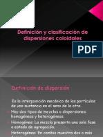 N° 1   deficion y clasificacion de dispersiones coloidales