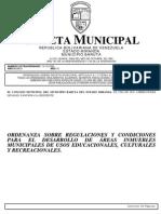 Ord Sobre Regulaciones y Condiciones Para El Desarrollo de Areas e Inmuebles