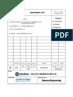 0 WD990 EM440 00101 Equipment List RevF