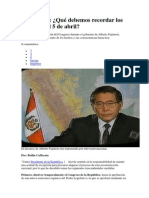 Disolver Qué debemos recordar los peruanos el 5 de abril