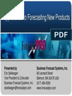 Forecast Pro New Product