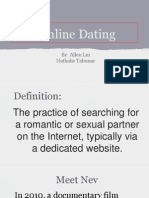 Online Dating Powerpoint Presentation