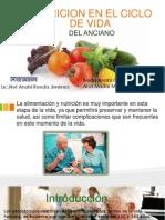Nutricion en El Ciclo de Vida Anciano