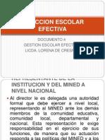 Direccion Escolar Efectiva 2011