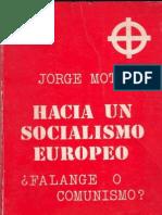 Jorge Mota Hacia Un Socialismo Europeo