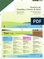 Directorio Hospitales Centros Salud Verano 2013