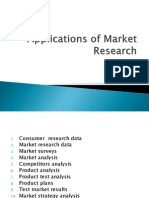 Applications of Market Research