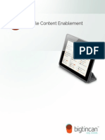 Mobile Content Enablement