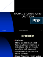 Moral Studies June-july 2009 Slides