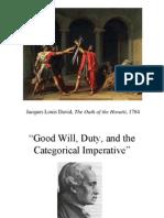 Deontological Ethics Immanuel Kant 2011