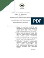 Batang Tubuh UU MKG Nomor 31 Tahun 2009