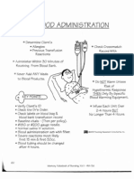 Blood Administration & Misc