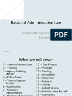 Basics of Administrative Law
