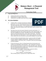 Balance Sheet a Financial Management Tool2871