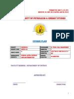 Courseplan PHYSICS I 2013 2014