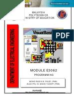 E3062 Programming