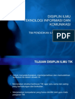 Disiplin Ilmu Teknologi Informasi Dan Komunikasi (TIK)