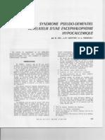 Gil et al. - Syndrome pseudo-démentiel révélateur d'une encéphalopathie hypocalcémique - Médecine Interne - 1972