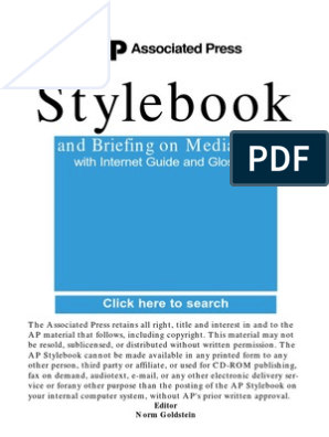 AP Style Book Guide pdf | Associated Press | Amtrak