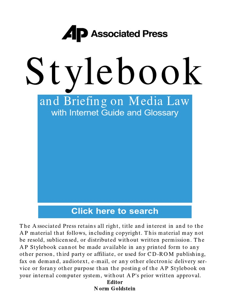Ap style book guidepdf associated press amtrak fandeluxe Choice Image